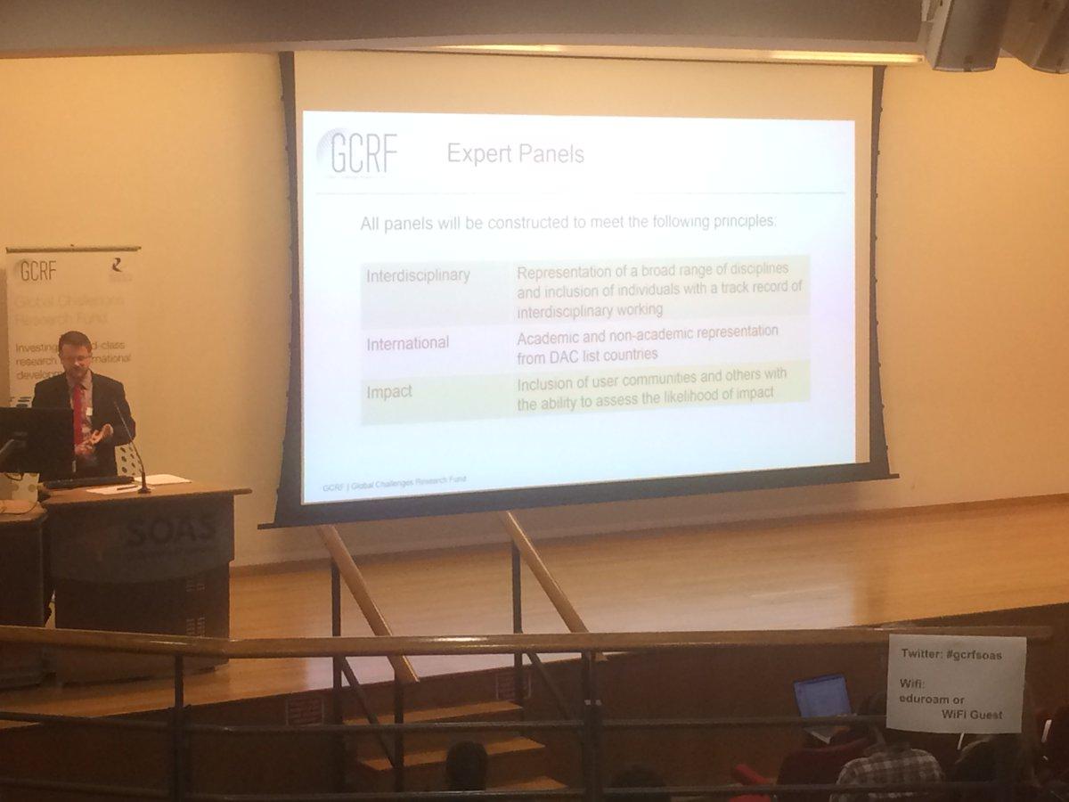 Liklehood of impact will be judged by practioneers #gcrfsoas #gcrf hubs <br>http://pic.twitter.com/efn7d3ze2N