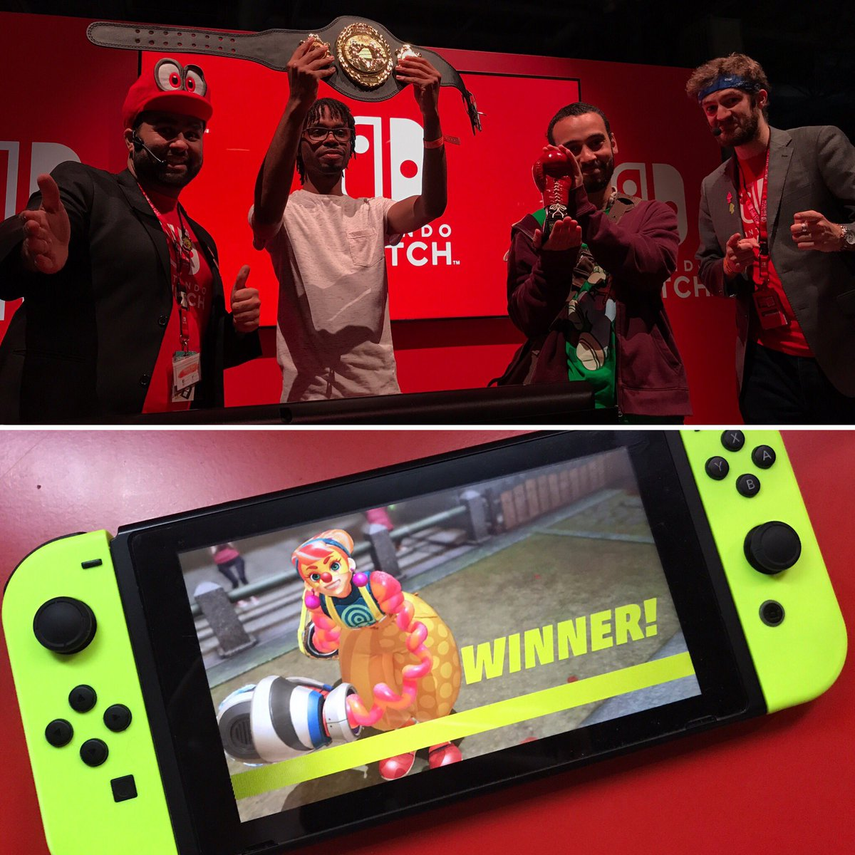 The winner of the #ARMS #EGX Grand Prix is @LegendOfS3OL, using Lola Pop and a combination of Chilla and Biffler. Congratulations!<br>http://pic.twitter.com/iOI6Sr3p60