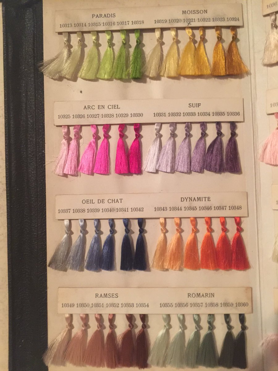19th century silk samples. Still bright #colours #stgallen<br>http://pic.twitter.com/YtcnOvqImt