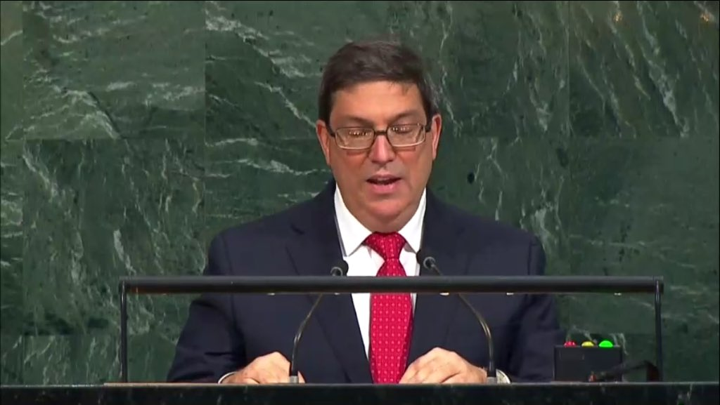 &quot;Neoliberal #Capitalism destroyed economies of #LatinAmerica in the 1980s.&quot; #Cuba at #UNGA <br>http://pic.twitter.com/yp6ZQsJsY7