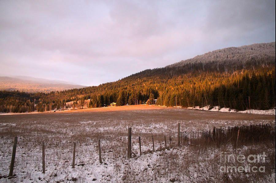 Winter Field by Victor K  https:// buff.ly/2fdO4c7  &nbsp;   #quietness  #fineart #romantic #landscape #winter #sunset #farmfield #ranch #mountain #sky<br>http://pic.twitter.com/SaWl4KFYTj