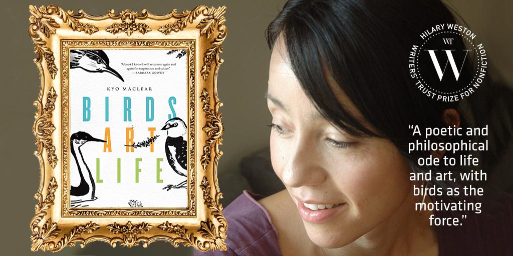 #WestonPrize #Nonfiction finalist #KyoMaclear's #BirdsArtLife is &quot;a melancholy &amp; joyful salve for living&quot;  http:// bit.ly/2xnxUFk  &nbsp;   #WTAwards<br>http://pic.twitter.com/0TcGcxTLcL