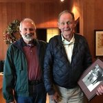 Bill Moylan, SVSF Bd Mem w/Fred Fisher, Fisher Vineyards holds pic of grandmother Sarah Fisher-The Sarah Fisher Home https://t.co/fucrWi53V6