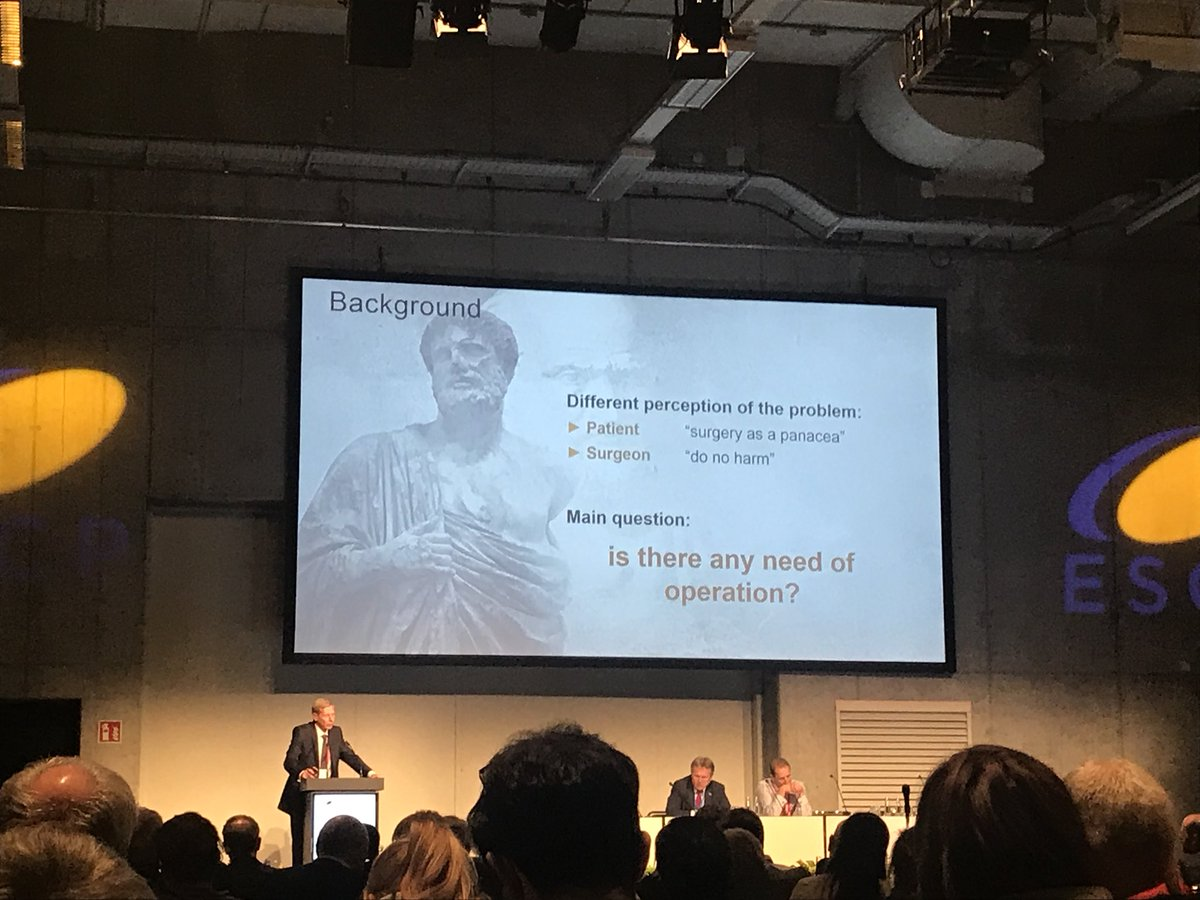 Not just in Colorectal but in all of our surigical practice. #escp2017 #Colorectalsurgery @DrOliverWarren<br>http://pic.twitter.com/QO1m4tM5QS