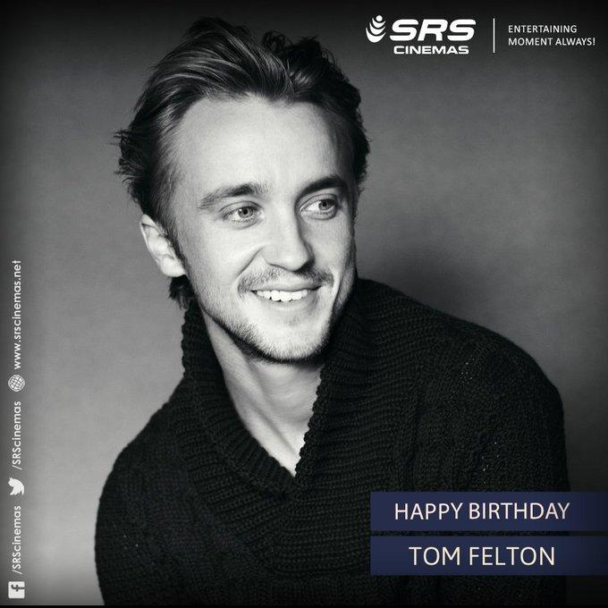 A very happy birthday to Jr. Malfoy, Tom Felton!