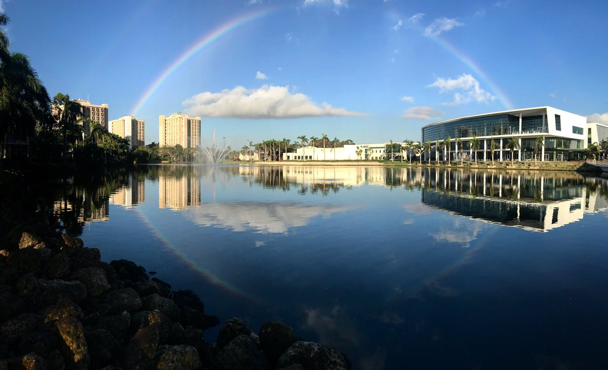 From the iconic towers to the glistening @UMiamiSCC, @univmiami has weathered the storm. Welcome back Canes! @UMiami_SA #IrmaRecovery <br>http://pic.twitter.com/i0vj18NFmi