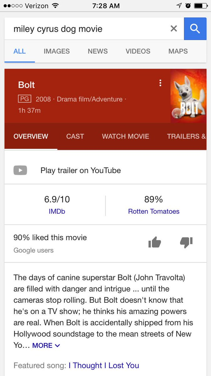 I want to remind the world of #bolt. Where @MileyCyrus was the owner of a dog. This dog being voiced by FUCKING @johntravoltahot ?!?!?!!!!!! pic.twitter.com/OK5x5Uq9hK