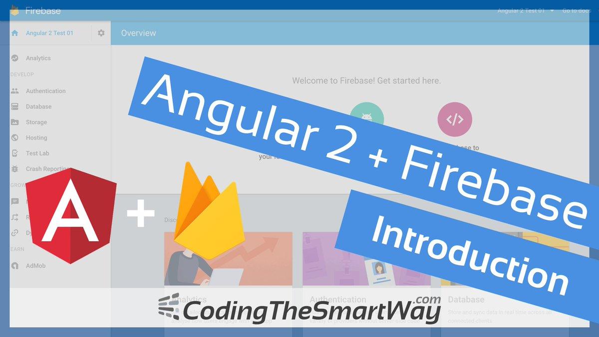 Check out the free video tutorial: #Angular and #Firebase  http:// codingthesmartway.com/angular-2-fire base-introduction/ &nbsp; …  #webdev #angularjs #angular2 #angular4 #frontend #backend<br>http://pic.twitter.com/DrupVnSGi2