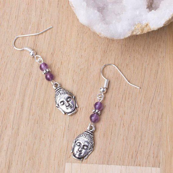 #NEW Amethyst Buddha Earrings - Silver Buddha purple gemstone earrings  https:// buff.ly/2xzW9SU  &nbsp;   #amethsyt #earringlove #yoga #jewellery #etsy <br>http://pic.twitter.com/F8c5IXf9BO