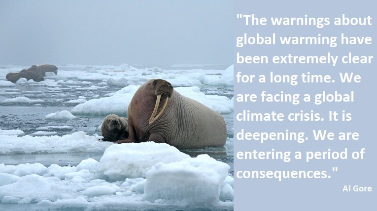 &quot;The warnings about global warming have been extremely clear for a long time.... We are entering a period of consequences.&quot; #environment <br>http://pic.twitter.com/jz2Lr9z9bQ