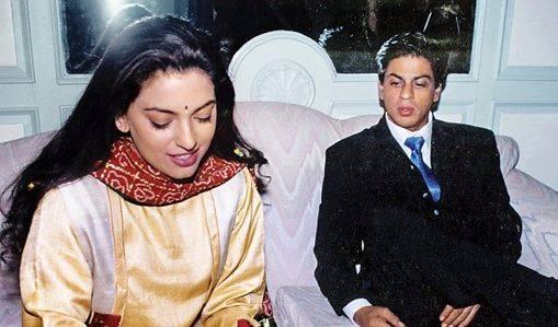 Bollywood Flashback - @iamsrk and @iam_juhi  Can you name three movies...