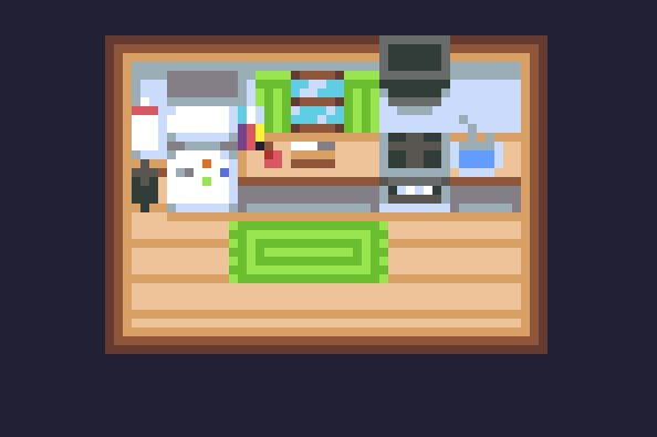 How small can you pixel a kitchen #pixelart #gameart #indiedev #gamedev #interieur<br>http://pic.twitter.com/d1QupZlLph
