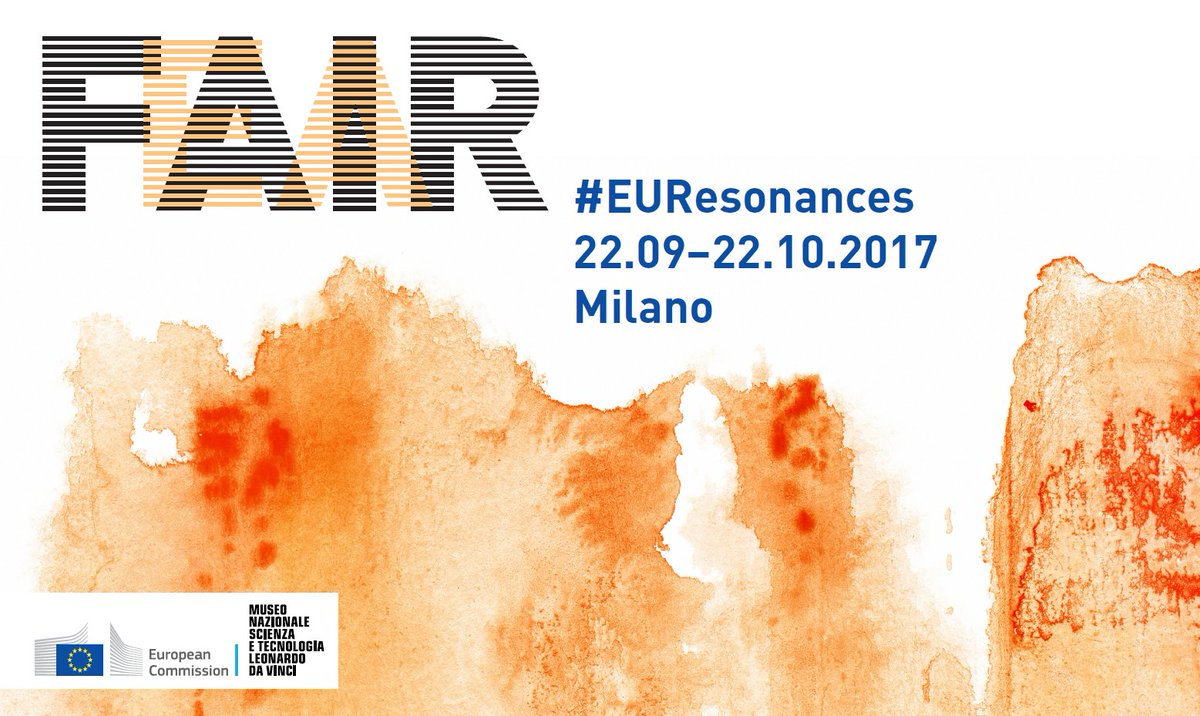 Our #EUResonances II exhibition FAIR/FEAR starts today in Milan,   http:// europa.eu/!HU97Gc  &nbsp;   #SciArt <br>http://pic.twitter.com/rAdCJT88bI