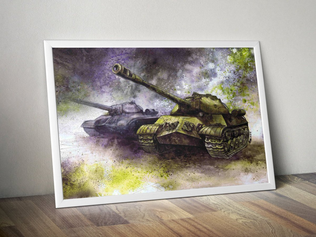World of Tanks art print - IS-3 tanks watercolor - tank painting - Wo…  http:// etsy.me/2qJIo1K  &nbsp;   #prints #TankPainting<br>http://pic.twitter.com/V0t1tKf4ed