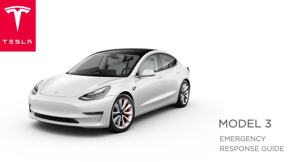 Tesla Owners Online On Twitter Model 3 Emergency Responders Guide Something To Read Until Public Deliveries Start Model3