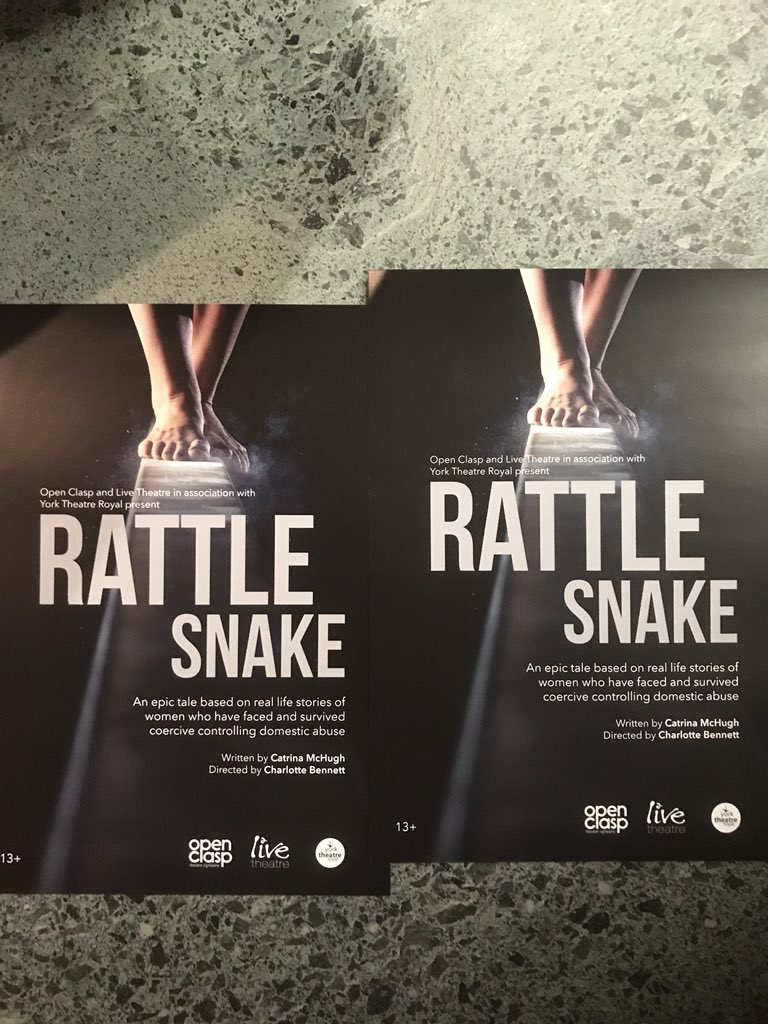 It the second preview of #RattleSnake by @OpenClasp tonight. Two shows tomorrow and then all next week @LiveTheatre<br>http://pic.twitter.com/N4GEJH2MUd