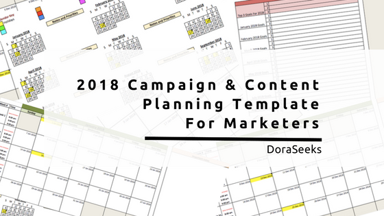 I am super excited to share with you my new &amp; improved campaign and #content planning template for 2018!  https:// doraseeks.com/annual-marketi ng-campaign-planning-template-2018/?utm_medium=social&amp;utm_source=twitter.com&amp;utm_campaign=templates&amp;utm_content=image-post &nbsp; …  #marketing<br>http://pic.twitter.com/Fk0NvPhzfT