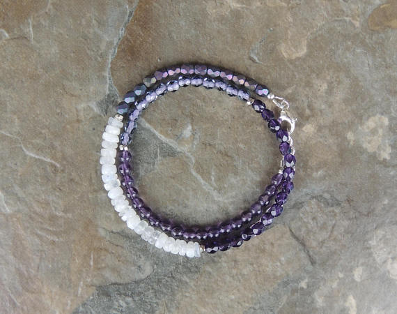Wrap Bracelet Beaded, Amethyst Bracelet, Purple Bracelet for Women, Boho…  http:// dlvr.it/PplDP5  &nbsp;   #etsyclub #etsychaching #epiconetsy <br>http://pic.twitter.com/LzYFXGzEJ9