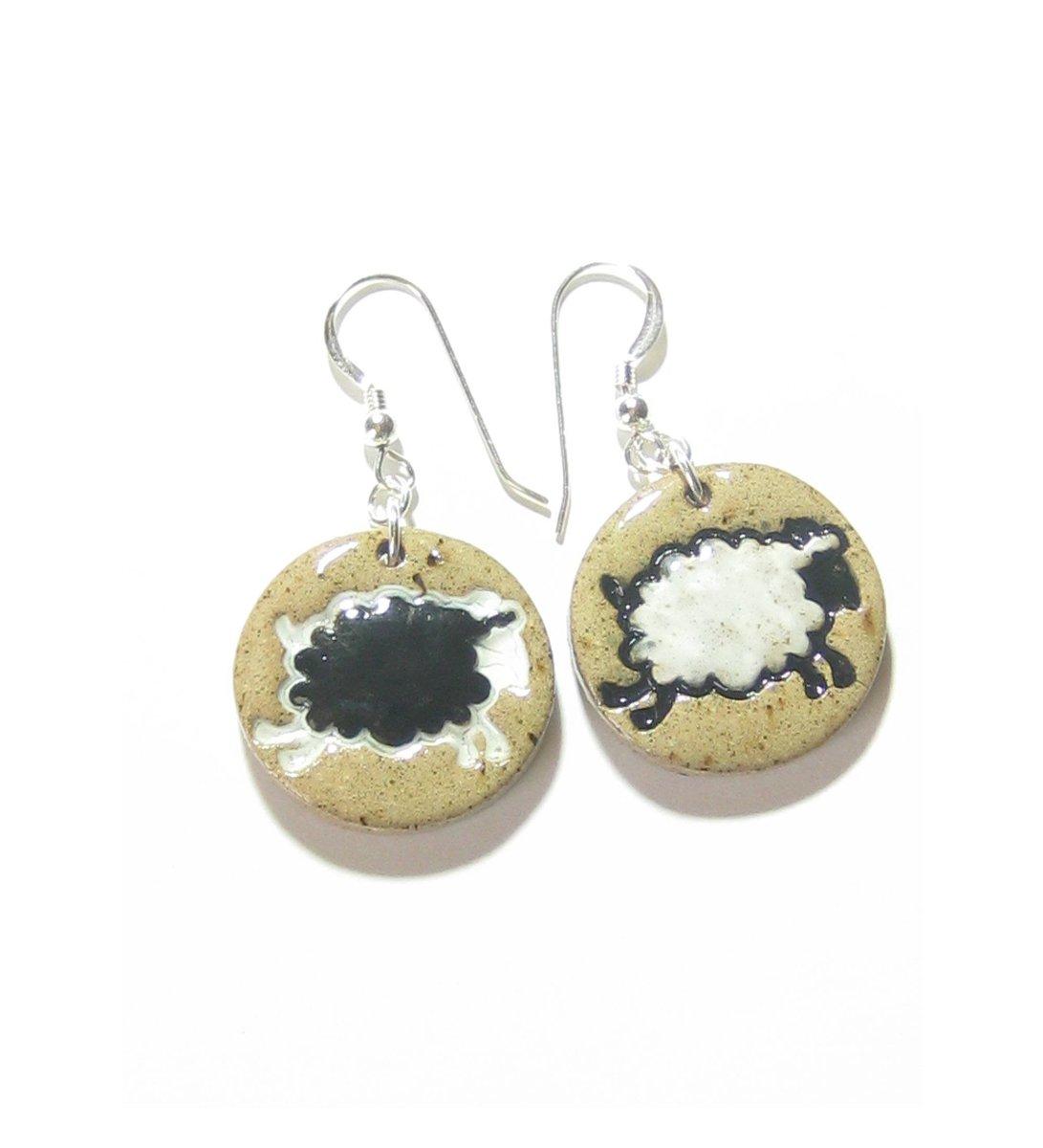 Black White Sheep Ceramic Disc Dangle Earrings, Stoneware Earrings, H…  http:// tuppu.net/dc79a9d2  &nbsp;   #etsymntt #epiconetsy <br>http://pic.twitter.com/y4wet0gVAz
