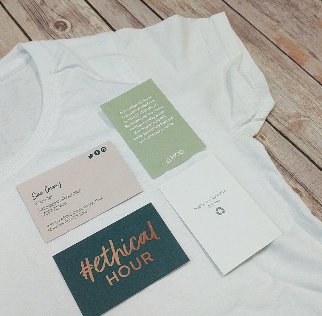 Ethicalhour on twitter thrilled with my fab business cards made ethicalhour on twitter thrilled with my fab business cards made from 100 recycled cotton t shirt offcuts thanks moo colourmoves