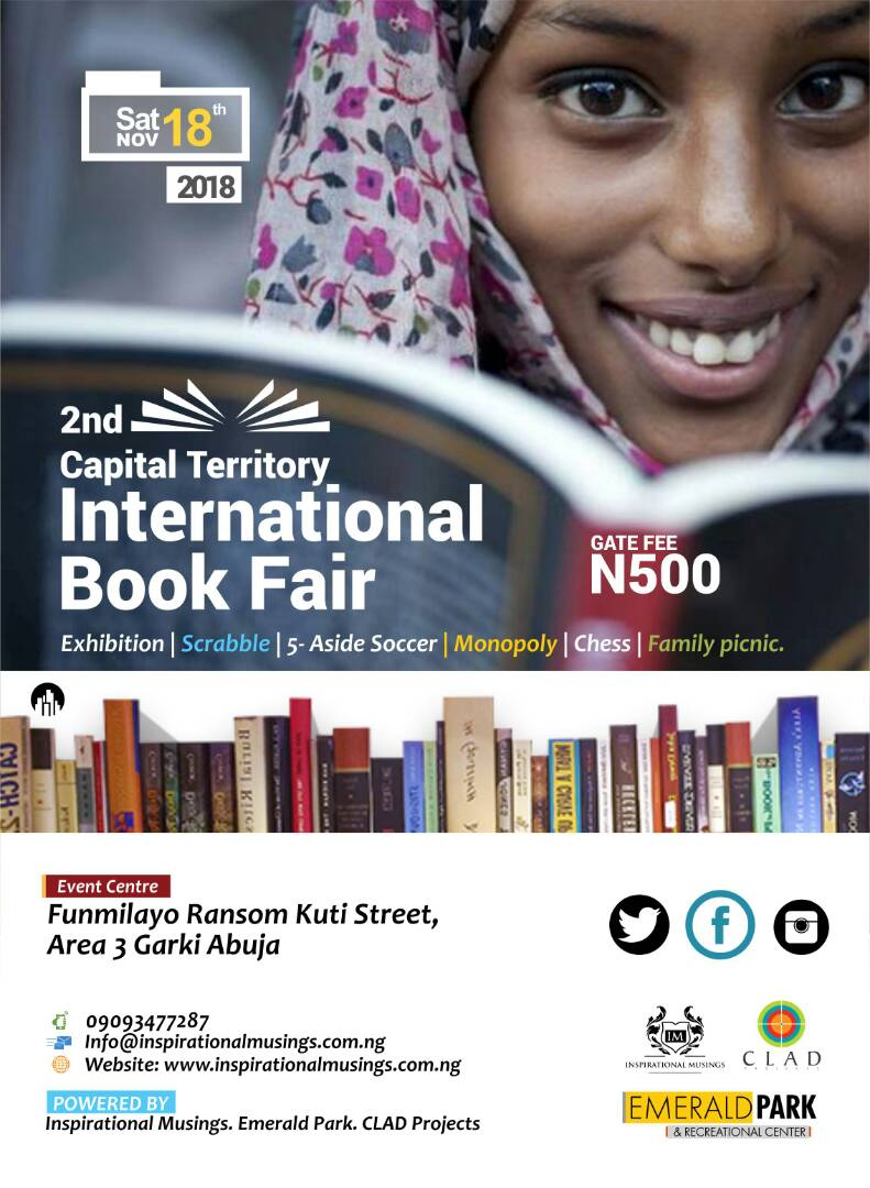 Calling all #authors #publishers #booksellers #bookshops #researchers #stationeryretailers #fooddrinkvendors participate in #FCTBookFair<br>http://pic.twitter.com/aGEENUzrU3
