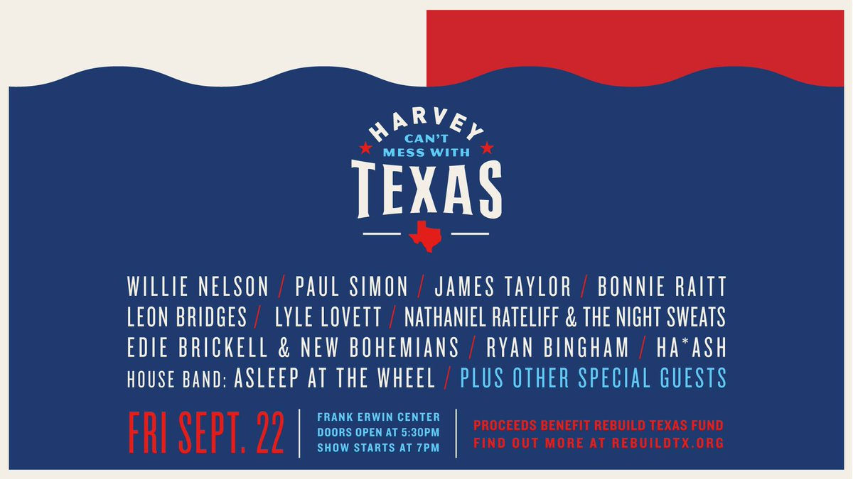 .@LyleLovett We will be carrying #harveycantmesswithtexas live at 9PM  https://t.co/kgI7gFf8dc https://t.co/qBuflzRKKB
