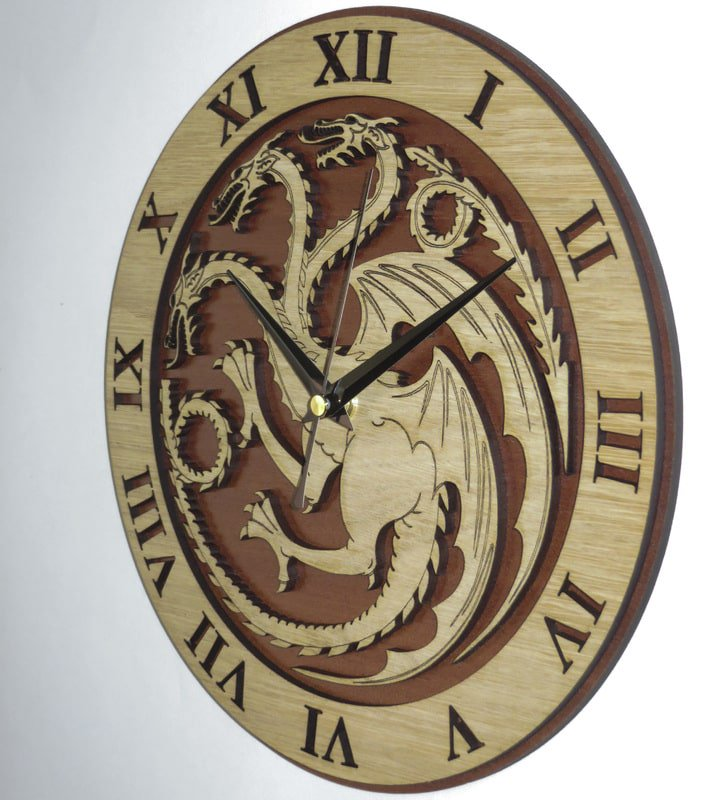 Handmade #Targaryen clock in wood #GameOfThrones #GoT #Art #InteriorDesign #Decor   -  https://www. etsy.com/listing/235648 563/targaryen-wood-clock-game-of-thrones?ref=shop_home_active_1 &nbsp; … <br>http://pic.twitter.com/2J5zZ8vtyT