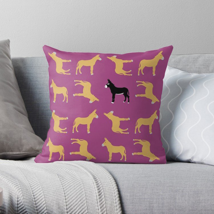 &quot;Never give up&quot; by Fusion  https://www. redbubble.com/people/fusion- absentis/works/28156717-never-give-up?asc=t&amp;p=throw-pillow &nbsp; …  via @redbubble #designmilk #redbubble #decor #homedecor #interiordesign #donkey #pillow<br>http://pic.twitter.com/GliBNdLMEA