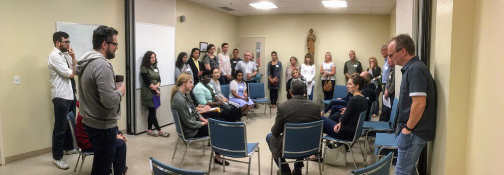 Pre-Team Meeting @SaintBP before our first night of #ALPHA Pray for our guests, pray for our big team. #havefun <br>http://pic.twitter.com/pi8tdb80ww