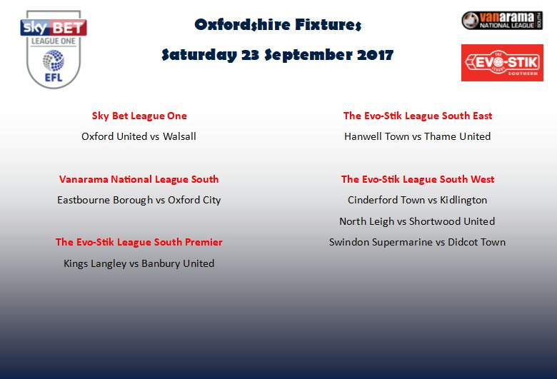 Oxon Football On Twitter Fixtures A Lot Of Fixtures Tomorrow