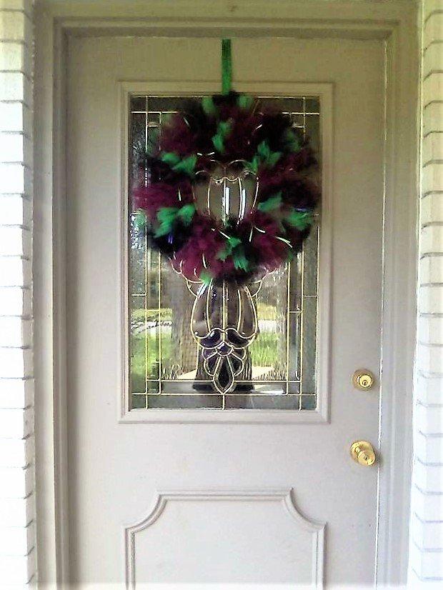 halloween wreath via etsy poofy halloween tulle wreath only 35 su0026h