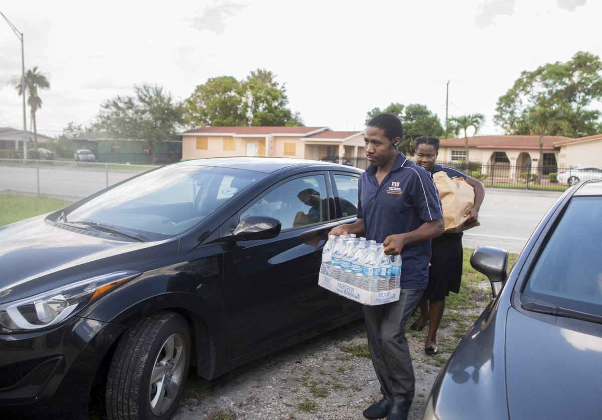 Our @GFFNHELP Outreach team continues to inspire--today delivering supplies to households post #HurricaneIrma #FIU  <br>http://pic.twitter.com/t8WBprIhtQ