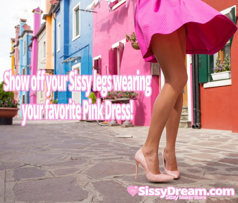 You love showing your feminine legs in a cute  pink dress and heels  #feminization  #sissification #cr ... <br>http://pic.twitter.com/8roBkyM7TD