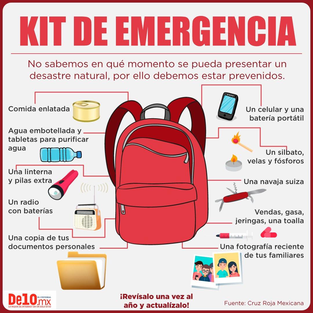 #FuerzaMéxico #TomaNota Es momento de prepararnos para cualquier emergencia... ¡Manos a la obra! https://t.co/PftPZmQCHA