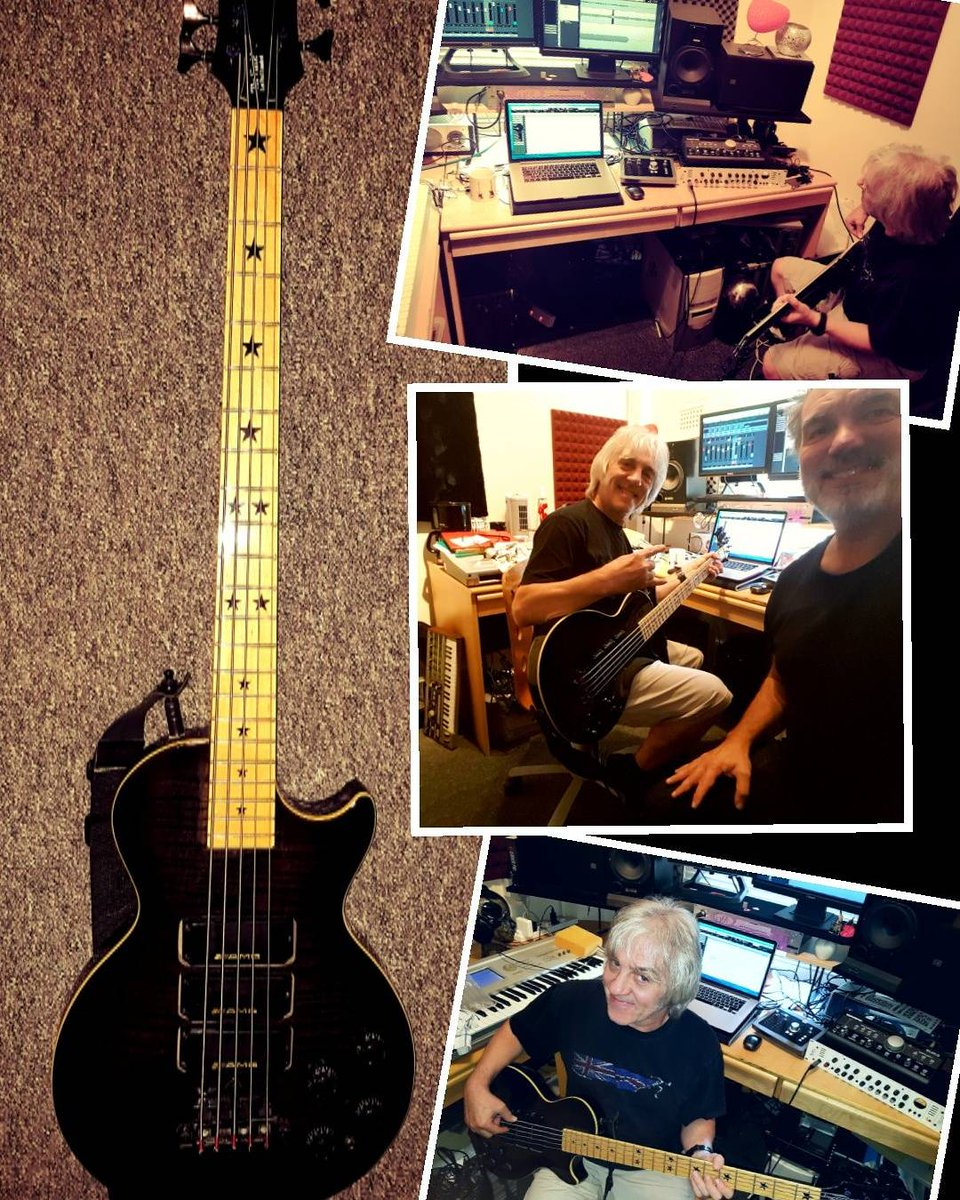 Momentum for the #NewAlbum2018 by @FMofficial is gathering fast. Here&#39;s Merv &amp; his 5 string #Gibson #LesPaul #bass laying down 5 tracks. <br>http://pic.twitter.com/vctYi6OlvS