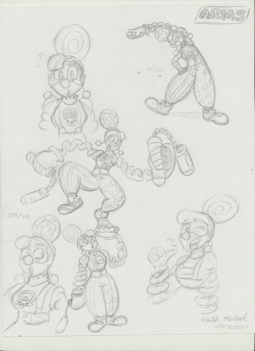 Did some sketches of Lola Pop from Arms! #lolapop #arms <br>http://pic.twitter.com/e1lGciqKcM