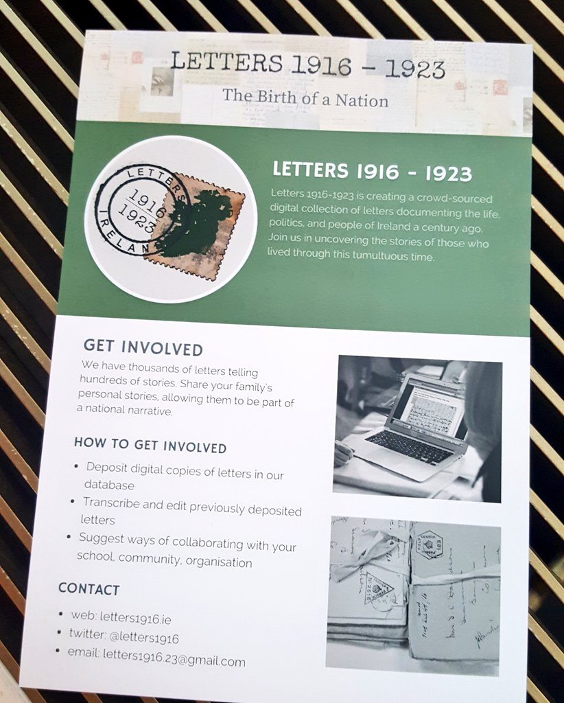 It&#39;s official. #Letters1916 is now collecting letters from 1916 - 1923. #LoveIrishResearch #crowdsourcing #IrishHistory<br>http://pic.twitter.com/J16KXq2xC4