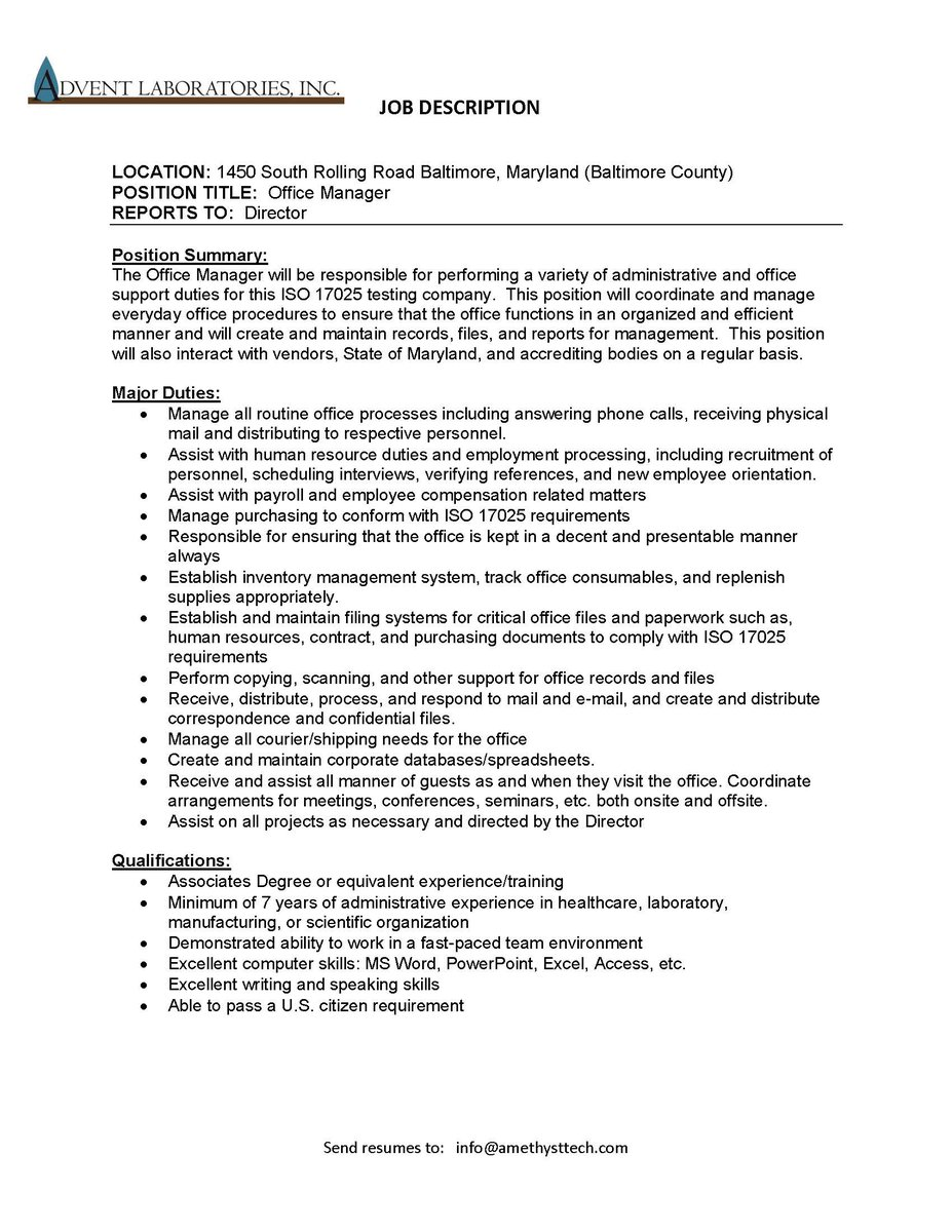 Direct Care Worker Resume Excel Carroll County Berc  Carroll County Business  Resource Center Manager Resume Objective Excel with Starbucks Resume Word Berc Carrollworksemployment Opportunity Advent Laboratories Office  Manager Email Resume See Photo For More Details Httpstcogihxmciqye Resume For Mba Application Word