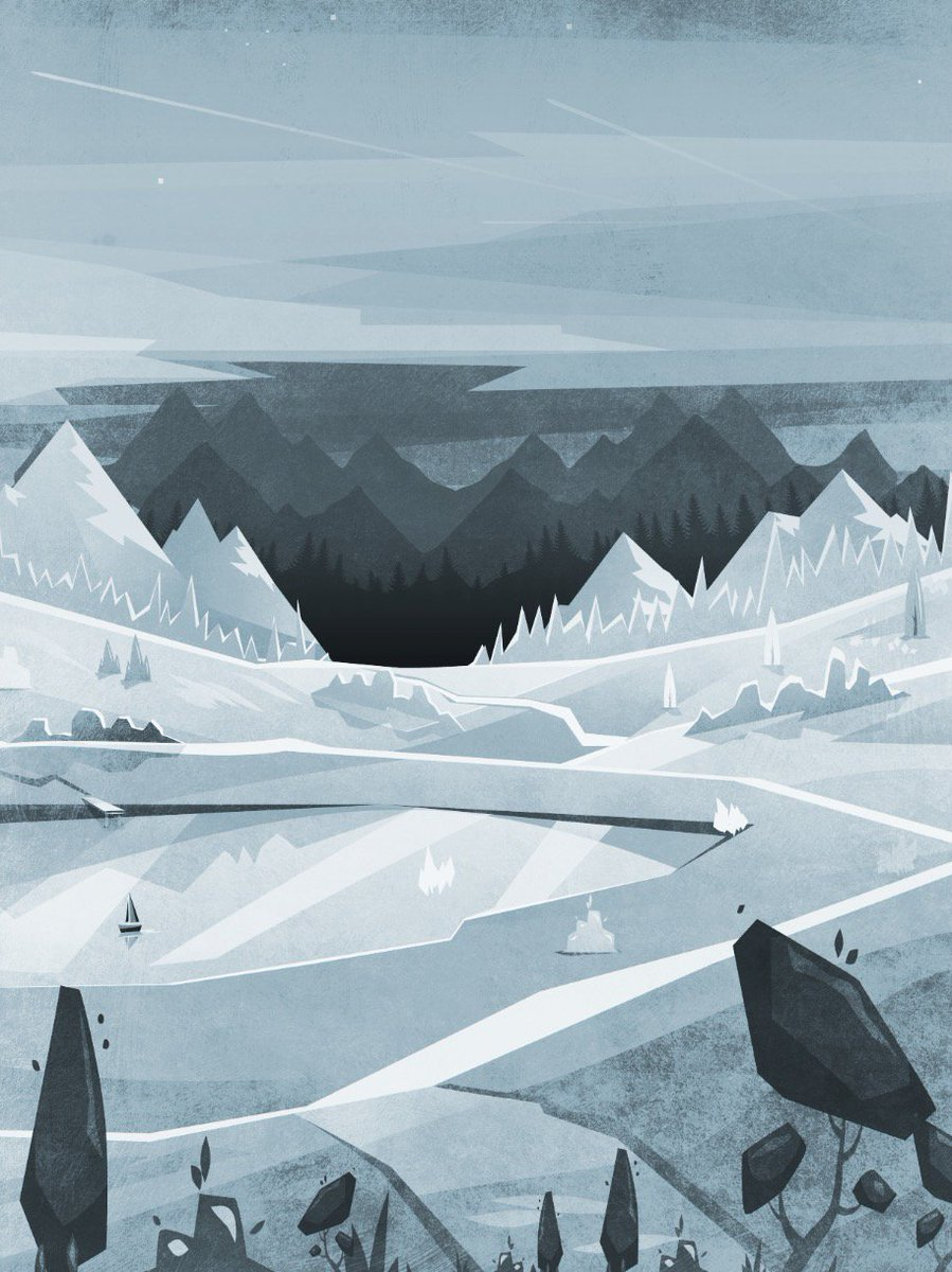 This week&#39;s #colour_collective #illustration - a Pewter Blue out of season frozen chilly lake...  #winter #landscape <br>http://pic.twitter.com/975ytDAzqt