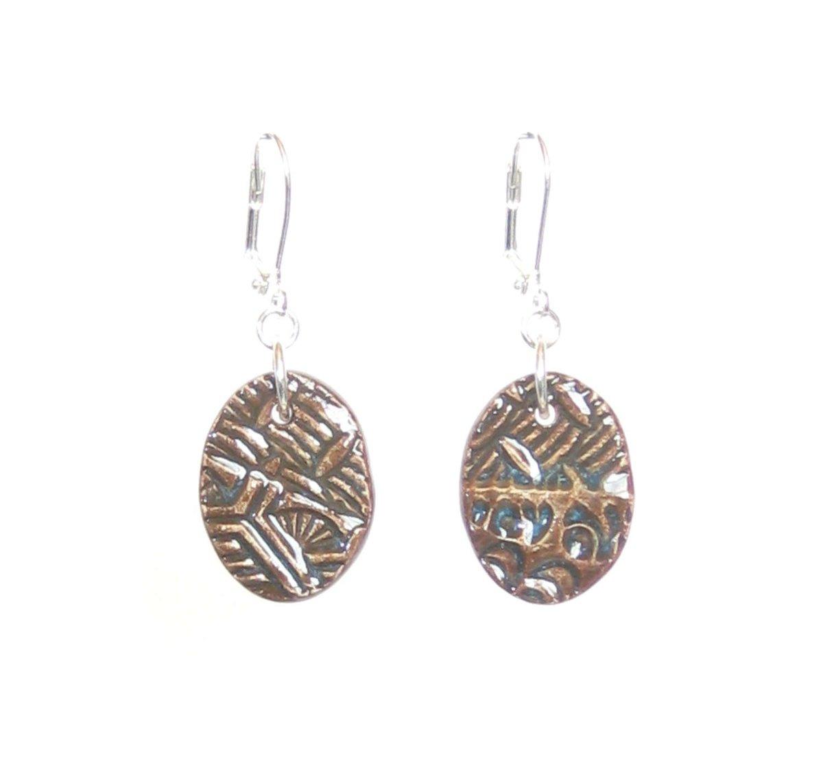 Rustic Dark Brown Ceramic Oval Earrings , Sterling Silver Leverbacks,…  http:// tuppu.net/96df0cde  &nbsp;   #etsymntt #epiconetsy <br>http://pic.twitter.com/HRYHHUTLOJ