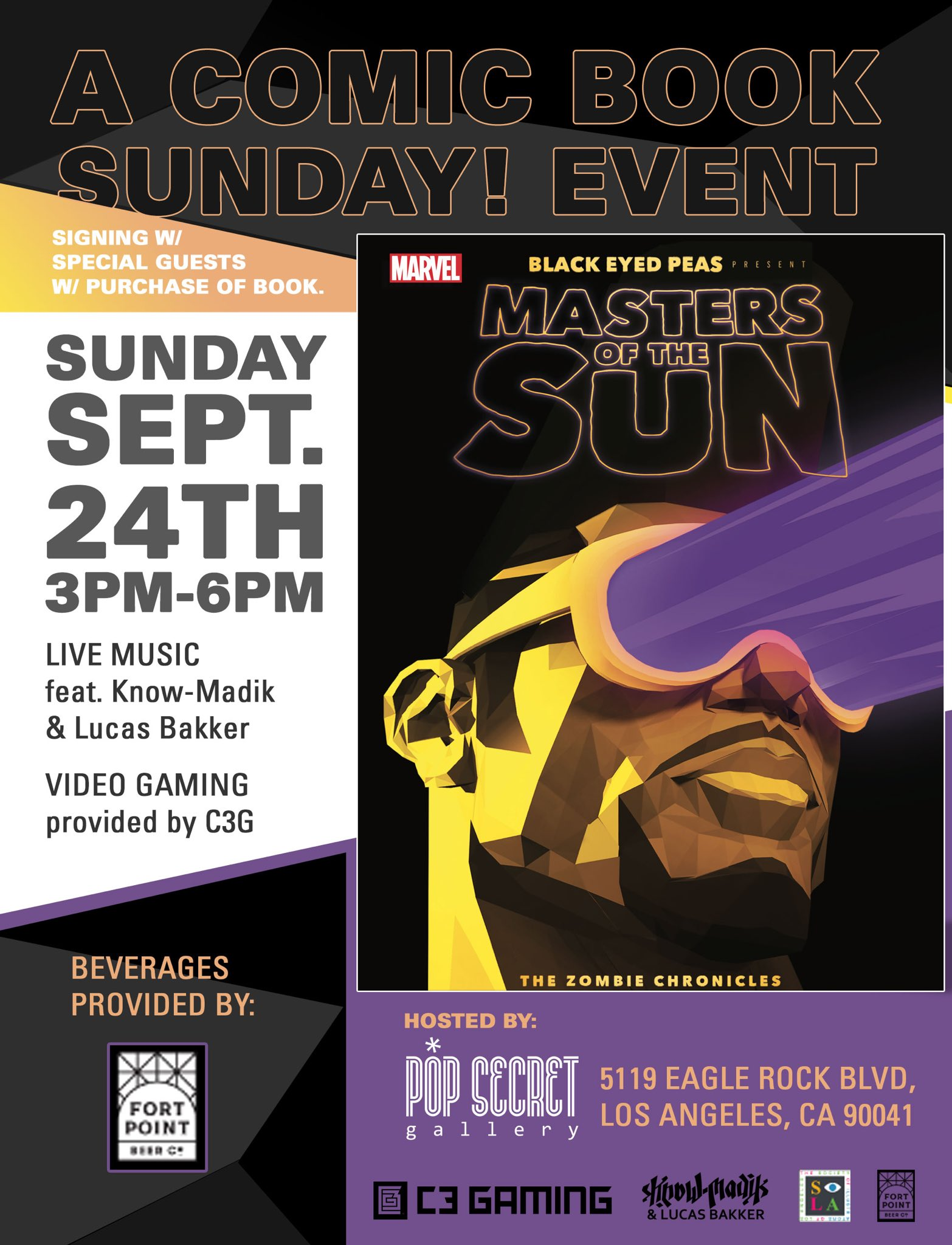 LA -- Pop Secret Gallery this Sunday. Be there to meet co-writer @Sk8Ent_. #MastersOfTheSun https://t.co/31VUtLgDqj