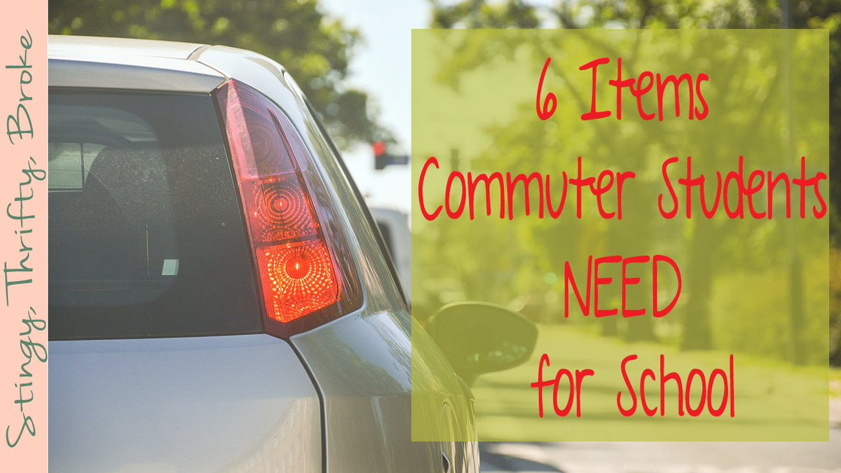 6 Items Commuter Students NEED for School #College #BacktoCollege #BacktoSchool  http:// wp.me/p6cxNH-1Zi  &nbsp;  <br>http://pic.twitter.com/aWfosOdgcV