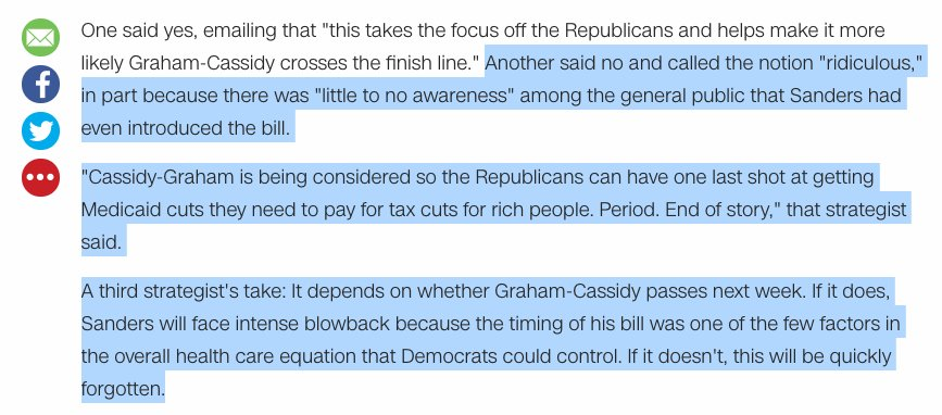 Did a bit in my weekly 2020 note on the @BernieSanders blowback re single-payer timing. Those fears didn't age well. https://t.co/EqNJIlFTe4