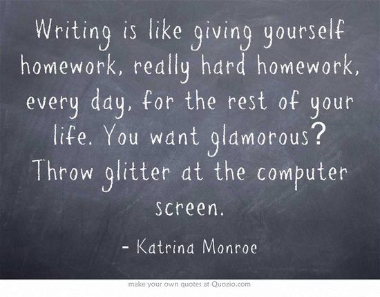 #Writing is like giving yourself homework... #amwriting #motivation #writerslife #authors <br>http://pic.twitter.com/5ZmXIUDNrG