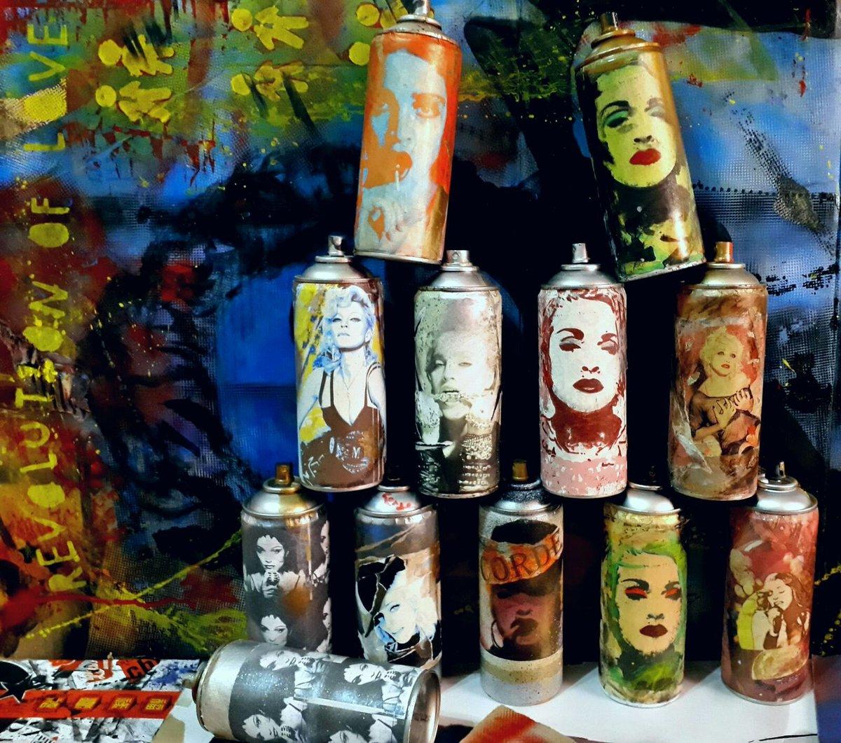 Rebel heart spray cans #Madonna by #CORDEart  #collage #streetart #graffiti  #arte #madonnafans #rebelheart #rebelhearttour #art #popart<br>http://pic.twitter.com/ONxmCDOFER