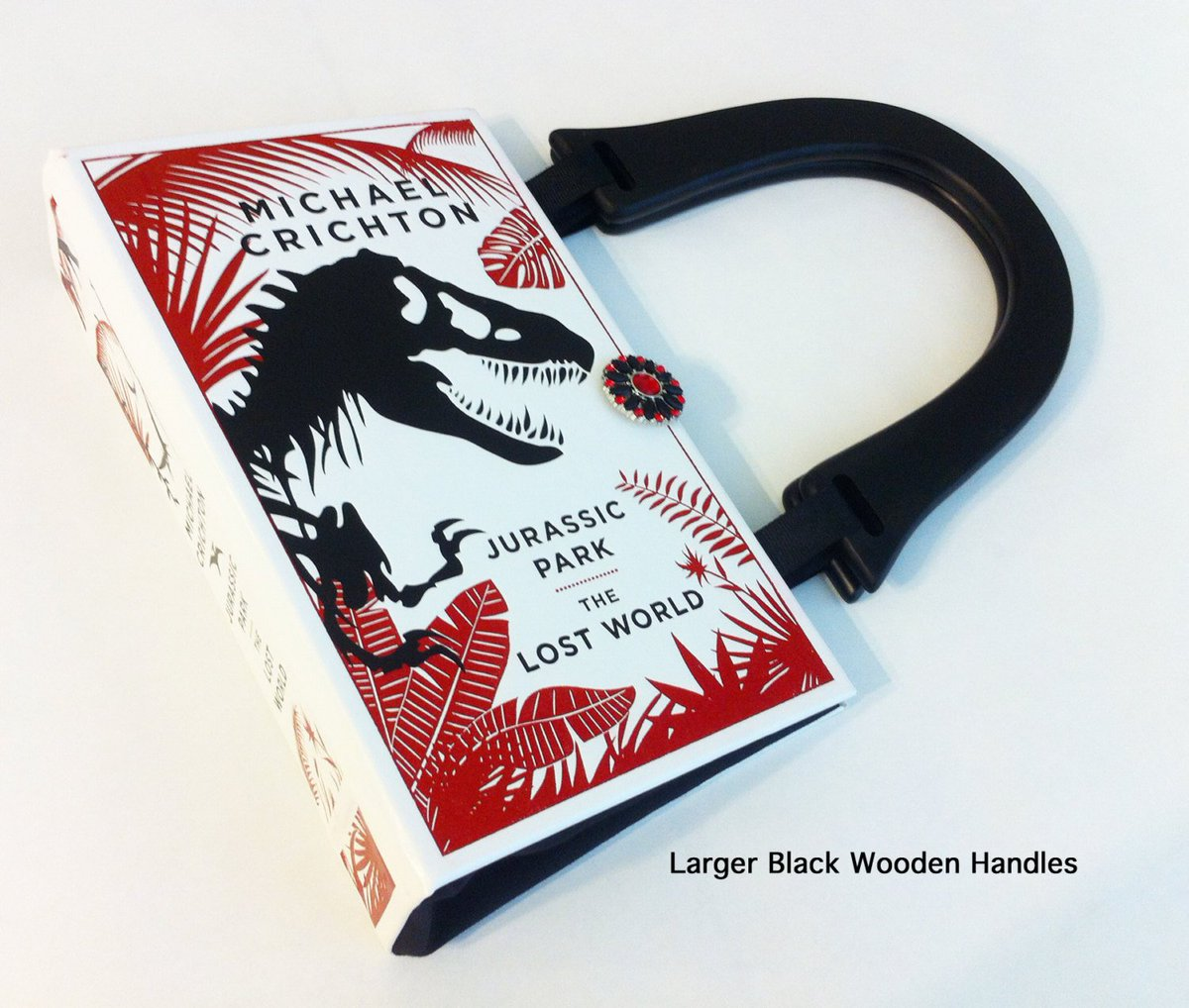 Jurassic Park Recycled Book Purse - The Lost World Book Cover Shoulder Pu…  http:// tuppu.net/1e23d948  &nbsp;   #EpiconEtsy #Trex<br>http://pic.twitter.com/kRuY80KLDB