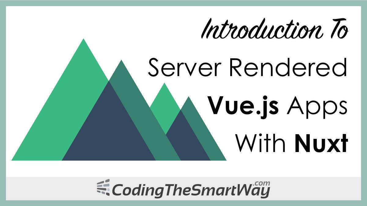 New free video tutorial: Build server rendered #vuejs apps with Nuxt:  http:// codingthesmartway.com/introduction-t o-server-rendered-vue-js-apps-with-nuxt/ &nbsp; …   #webdev #frontend #vue #javascript #nuxt<br>http://pic.twitter.com/HzrL1LR8T8