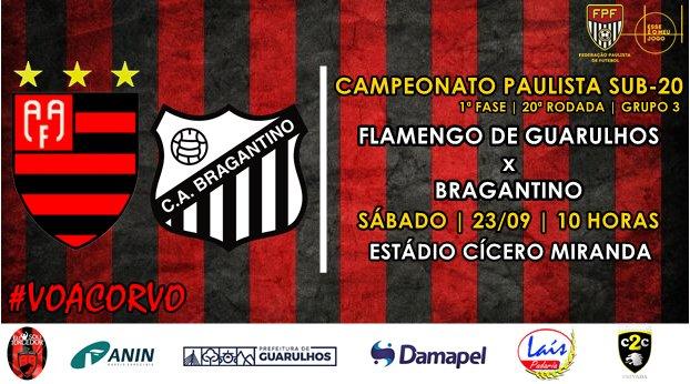 Aa Flamengo Guarulhos De On Twitter Sabado De Sub 20 Flamengo De Guarulhos X Bragantino 23 09 10h Estadio Cicero Miranda Voacorvo Sub20 Campeonatopaulista Https T Co Iheuctjhhs