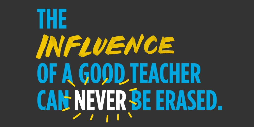 RT @edutopia You change students&#39; lives every day. <br>http://pic.twitter.com/JTsso3EUiG #teachers #education #learning #teaching #parents #success #mind