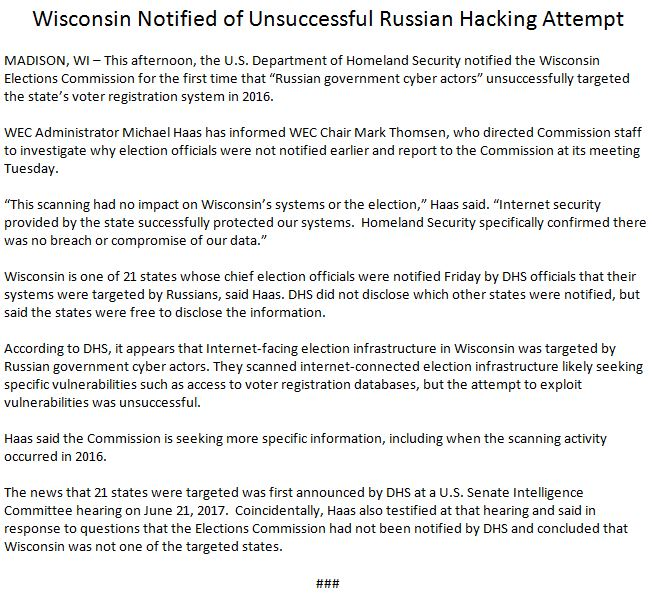 Russia targeted election systems in 21 states, successfully hacking some